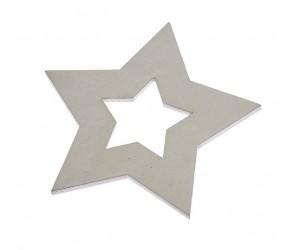 Ξύλινο Αστέρι Λευκό ZL1151Α