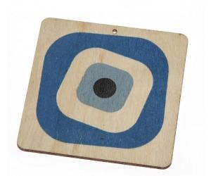 Ξύλινο Μάτι Τετράγωνο Σιελ ZL1168
