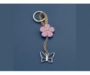 Μπρελόκ Λουλούδι - Πεταλούδα