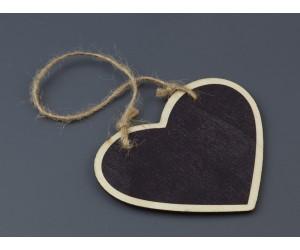 Διακοσμητικό Κρεμαστός Μαυροπίνακας σε σχήμα Καρδιά