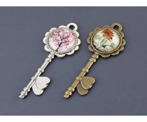 Διακοσμητικό Κλειδί λουλούδια, μεταλλικό