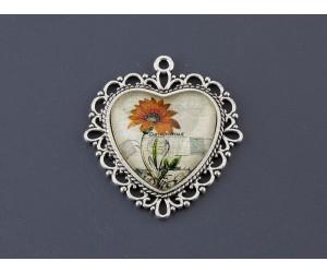 Διακοσμητικό λουλούδι vintage μεταλλικό