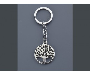 Μπρελόκ Δέντρο της Ζωής Ασημί