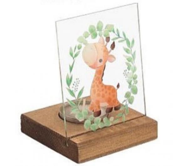 Plexiglass σε ξύλινη βάση ρεσώ Καμηλοπάρδαλη