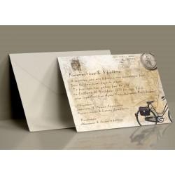 Προσκλητήριο Γάμου Postcard Vintage