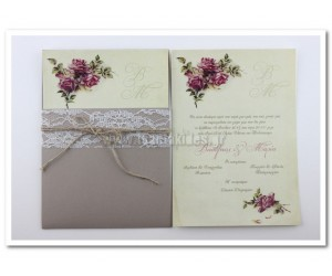 Προσκλητήριο Γάμου Vintage