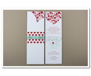 Προσκλητήριο Γάμου με φάκελο σε σχήμα καρδιάς